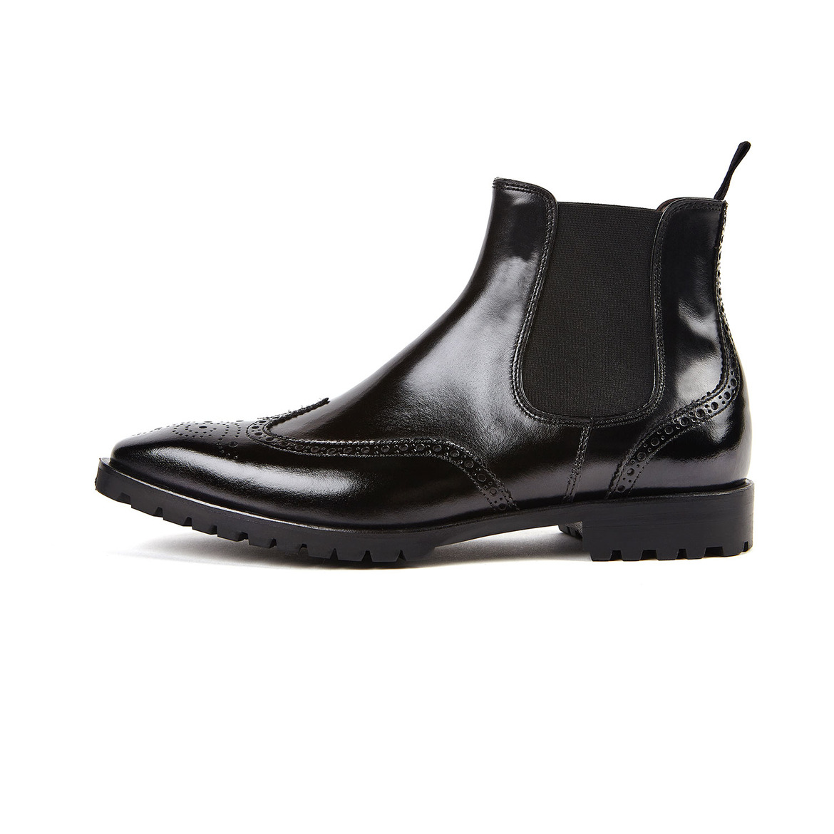MIRAVO 7 [Premium Wing-tip Chelsea Boots] (Customizable)